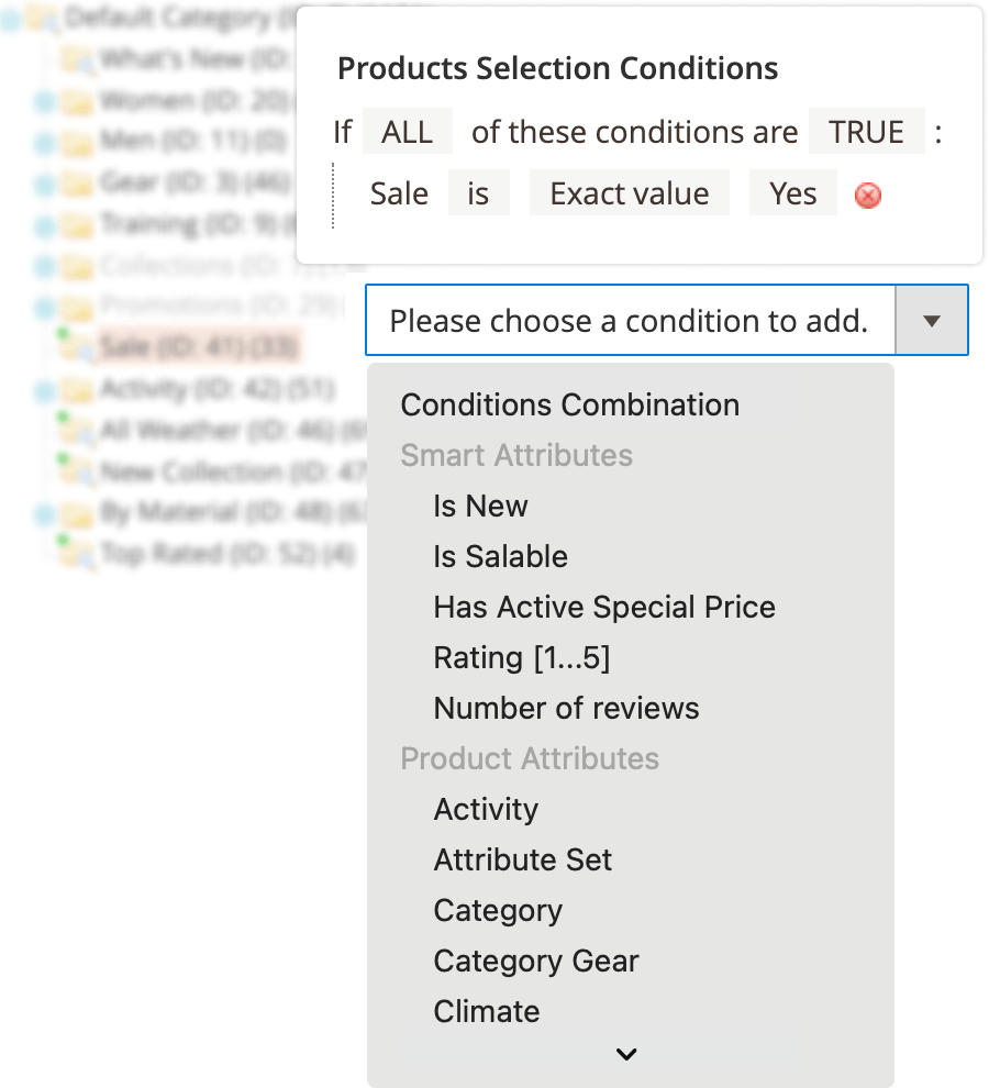 assign products instantly to the categories